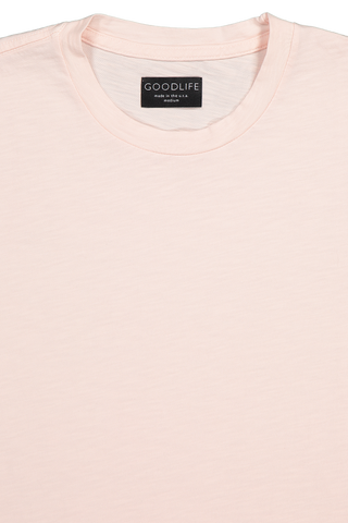 Front collar detail image of Good Life Short Sleeve Slub Scallop Crew Tee