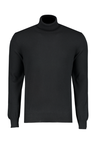 Front view image of Gran Sasso Turtleneck Sweater Black