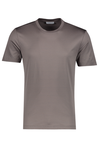Front view image of Gran Sasso Men's Classic T Shirt Brown