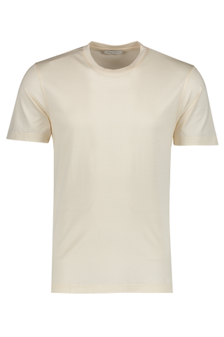 Front view image of Gran Sasso Men's Classic T Shirt Ivory