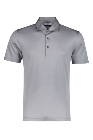Cotton Short Sleeve Polo Grey