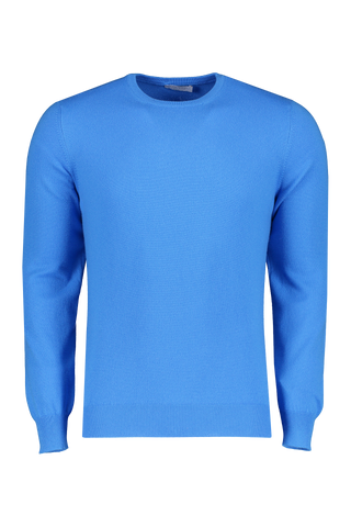 Front view image of Gran Sasso Crewneck Sweater Blue