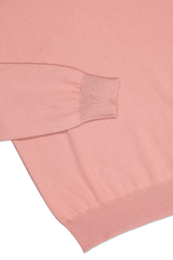 Hemline and cuff detail image of Gran Sasso Men's Crewneck Sweater Pink