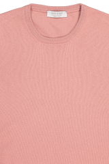 Front collar detail image of Gran Sasso Men's Crewneck Sweater Pink