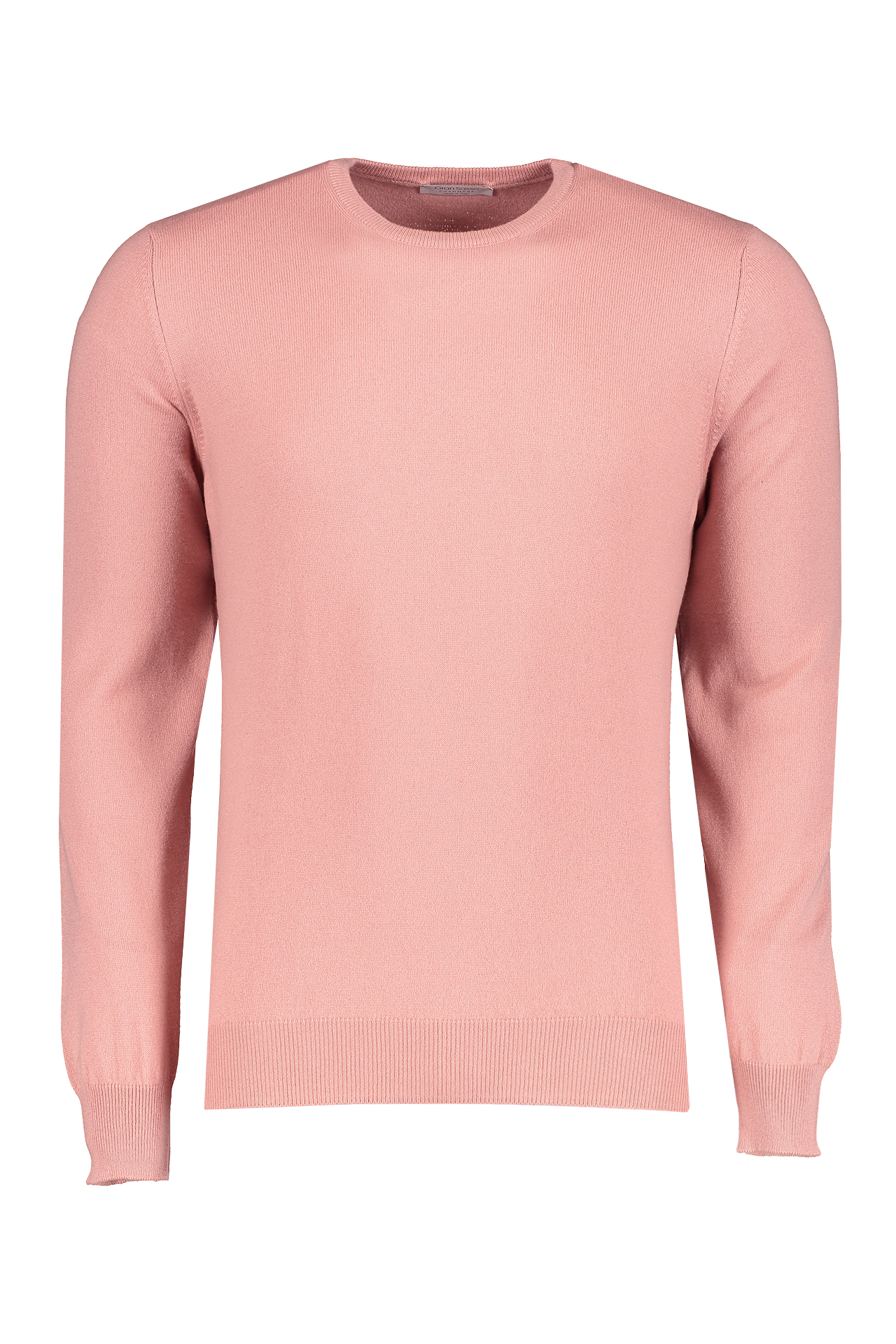 Front view image of Gran Sasso Men's Crewneck Sweater Pink