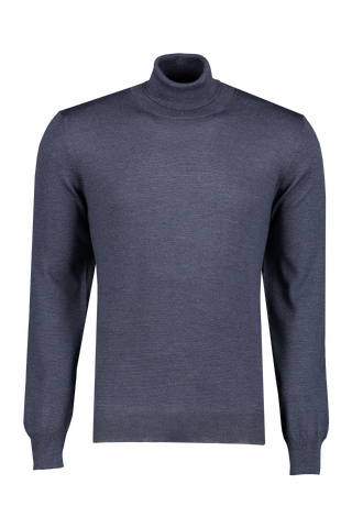 Front image of Gran Sasso Merino Turtlneck Sweater Blue