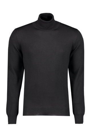 Front image of Gran Sasso Merino Turtleneck Black