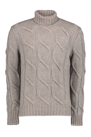 Merino Cable Knit Turtleneck