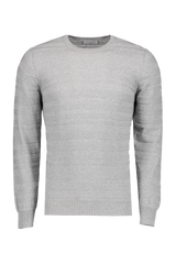 Front image of Gran Sasso Variegated Crewneck Sweater