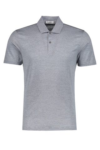 Front view image of Gran Sasso Stripe Classic Polo Navy
