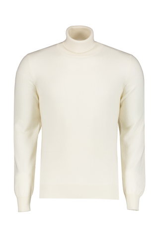 Front view image of Gran Sasso Turtleneck Sweater Ivory