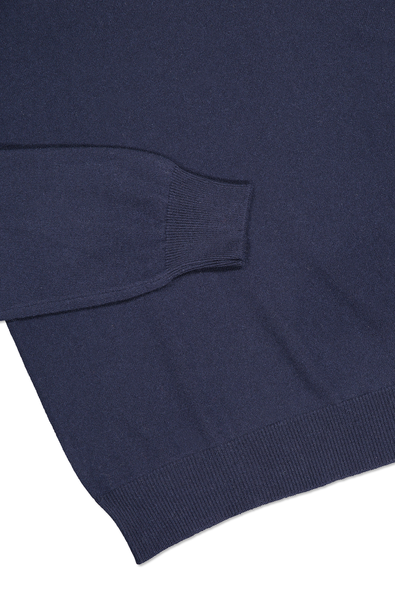 Hemline and cuff detail image of Gran Sasso Turtleneck Sweater Navy