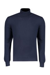 Front view image of Gran Sasso Turtleneck Sweater Navy