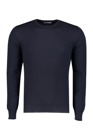 Front view image of Gran Sasso Men's Crewneck Sweater Navy