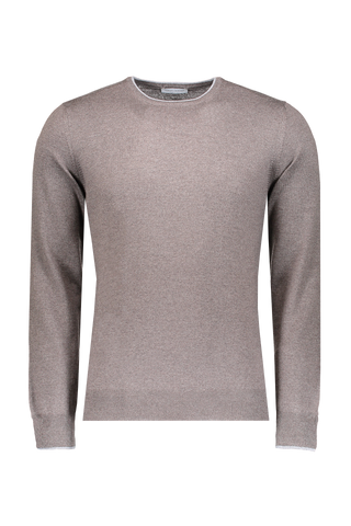 Wool Tipped Crewneck Brown/Grey