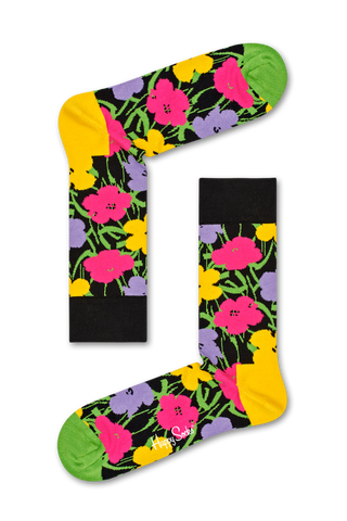 Overhead detail image of Happy Socks Andy Warhol Flower Sock