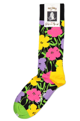 Front image of Happy Socks Andy Warhol Flower Sock