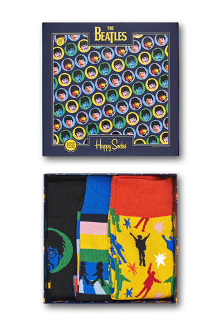 Image of Happy Socks Beatles Gift Box 3 Pack