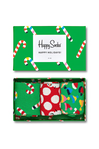 Image of box and Happy Socks Holiday Gift Box 3-Pack