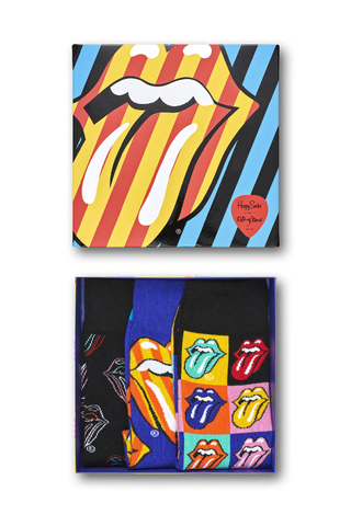 Image of Happy Socks Men's Rolling Stones Gift Box 3 Pack