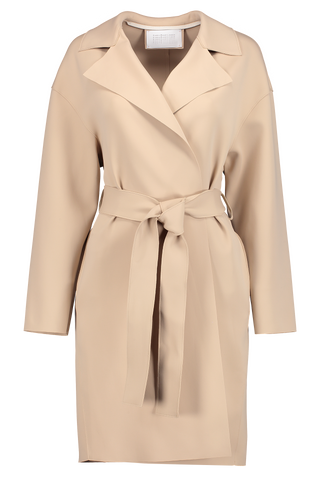 Drop Shoulder Belted Technic Coat
