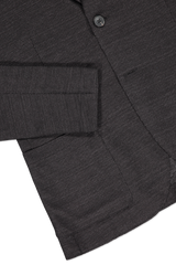 Hemline and sleeve detail image of Harris Wharf London Men's Two Button Blazer Linen Jersey