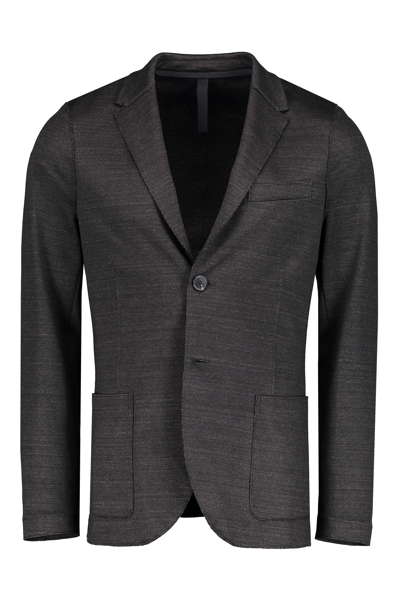 Front image of Harris Wharf London Men's Two Button Blazer Linen Jersey