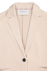 Long Fitted Blazer Corduroy Ecru