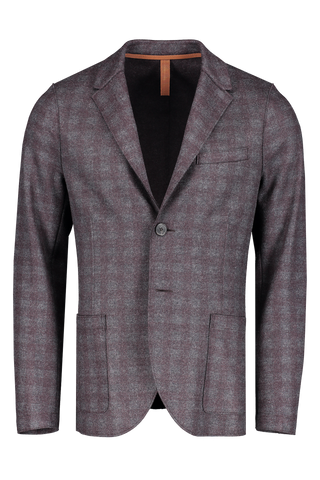 Front image of Harris Wharf London Men's 2 Button Blazer Flannel Tartan