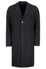 Front image of Harris Wharf London Men's Overcoat Polaire Navy/Blue