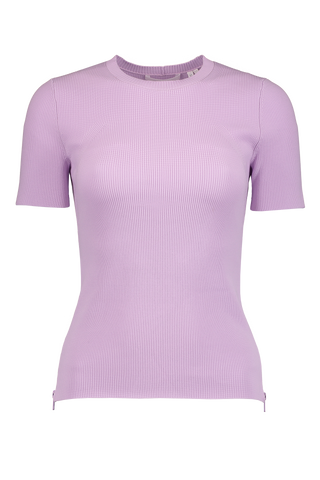 Front Image Angel Side Zip Tee Lavender