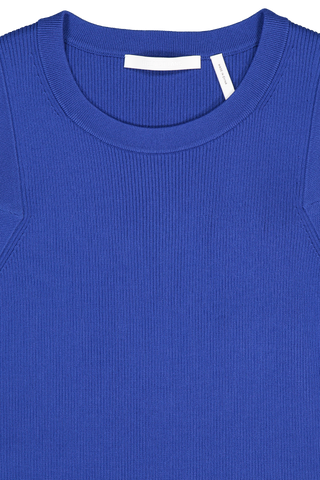 Collar Detail Image of Helmut Lang Crewneck Stretch Dress
