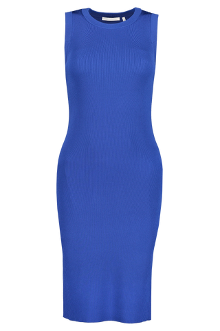 Front Image of Helmut Lang Crewneck Stretch Dress