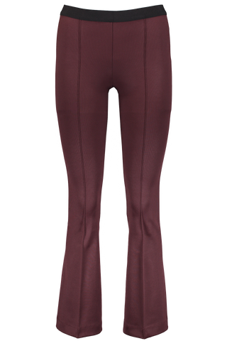 CROPPED FLARE LEGGING WINE