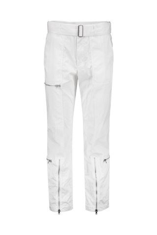 Front Image Flight Parachute Cotton Pant White
