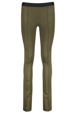 Front Image Of Helmut Lang Full Length Flare Legging Sage