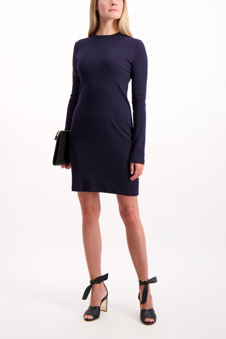 Full Body Image Of Model Wearing Longsleeve Harness Dress