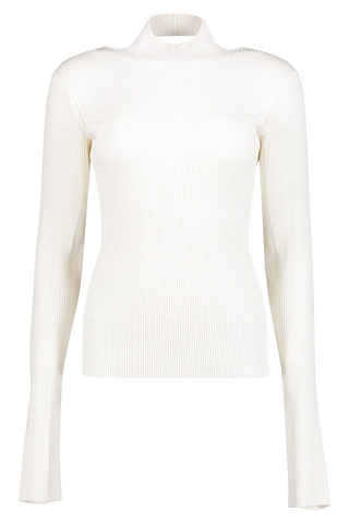 Front image of Helmut Lang Viscose Stretch Openback Pullover