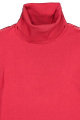 Front collar detail image of Helmut Lang Viscose Stretch T-Neck Lava