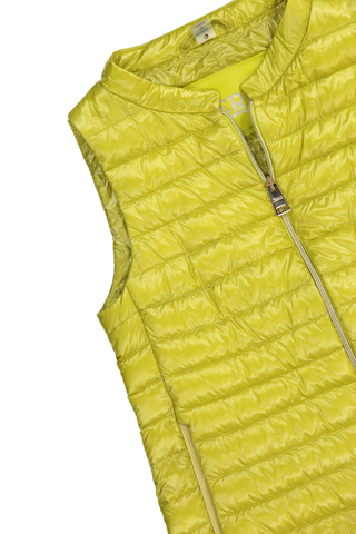 Shoulder Detail A-Line Hilo Puffer Vest Lime