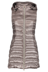 Front view image of Women's Herno Classic Nylon Fitted Long Vest Charcoal