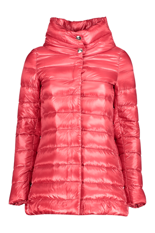Front image of Herno Women's Classic Nylon Hilo Jacket Red