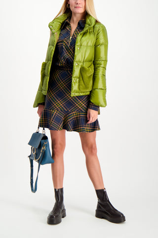 Full Body Image Of Model Wearing Herno Classic Nylon Short Jacket