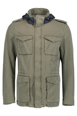 Enzyme Washed Field Jacket Military