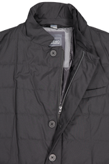 Front collar and zipper detail image of Herno Men's Gore Windstopper Blazer