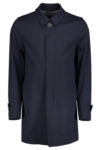 Loro Piana High Tenacity Raincoat Navy