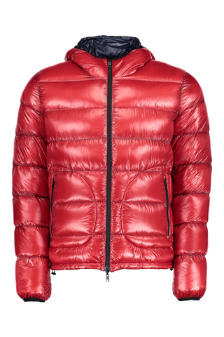 TECHNICAL DOWN COAT RED/NAVY