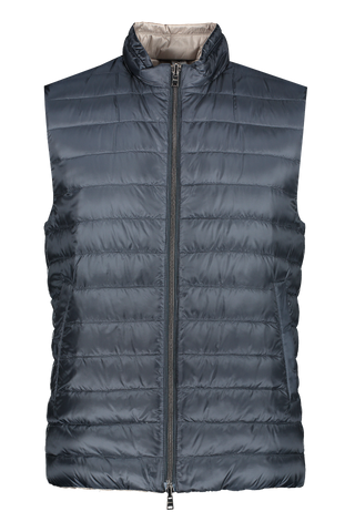 Front view image of Herno Men's Reversible Vest Blue