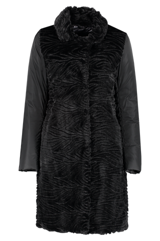 Front view image of Herno Women's Textured Velvet Sateen Coat