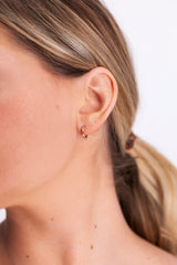 Image of Hoorsenbuhs Huge Earrings With Diamond Bridges on model
